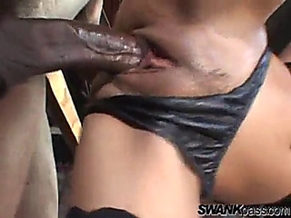Intensive interracial sex..