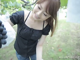 Pov head outdoors with the..