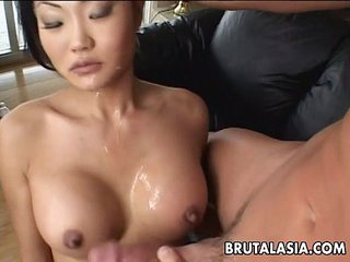 Asian brunette whore sucks..