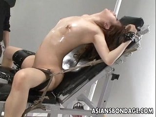 Nasty Asian slut in bondage..