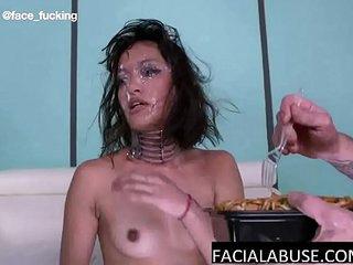 Asian throat slut totally humiliated