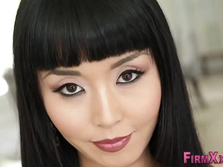 Asian cutie gets facial