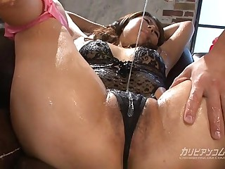 Asian MILF Bathed with..