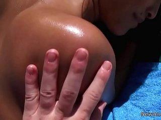 Asian gf anal fucks at..