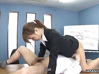 Hot Asian dick sucker pleases the dude's dicks