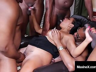 Oriental Orgy! Asian Maxine..