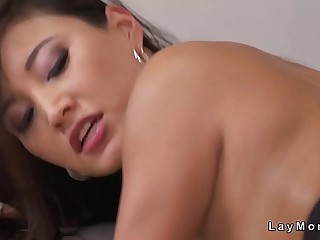 Beautiful natural tits Asian Milf fucking