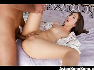 Asian Teen Beauty Mila Jade Getting Plugged With Dark Dick