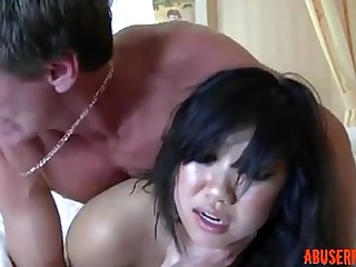 Cute Asian Getting a Rough..