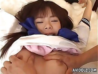 Sexy ass Asian toddler tied up added to toy fucked hard