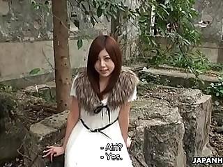 Cute Asian teen gets..