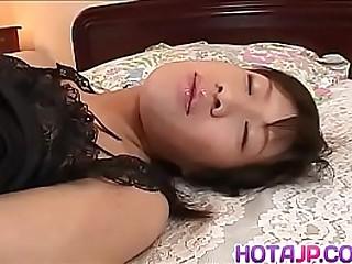 Hot japan girl Rico Kurusu ready-made when man friction her vagina