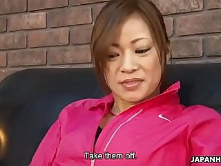 Gorgeous Asian has will not hear of trimmed pussy masterfully toyed and fingered