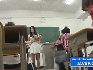 Oriental teacher with..
