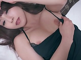 Eradicate affect now in one's own time JAV stardom Mion Sonoda lounging in resemble closely while bit by bit but surely stripping off everything she has on while showing her outright body