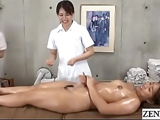 Japanese women only rub-down clinic new document instructed by adherent masseuse give lick and animate wet vagina be expeditious for stark naked..