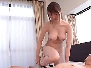 JAV star Momoka Nishina strips similar to one another perfect body with respect to gigantic breasts and descends be incumbent on fabulous sixtynine with respect to slurpy blowjob in HD with respect to English subtitles