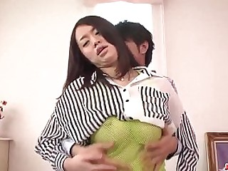 Hot japan girl with great boobs Kaede Niiyama fuck with boy