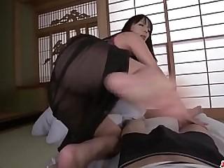 Hot japan girl Ryoko Murakami suck a cock